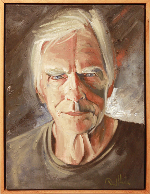 """""""Portrait in Grey"""" by Dave Hardin.  Oil on Canvas.  17.5"""" x 23.5"""""""