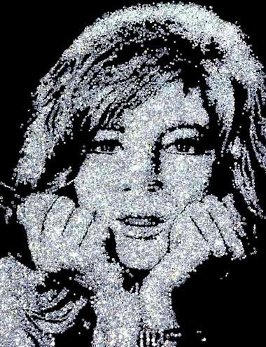 Vik Muniz, 'Monica Vitti (From the Diamond Series)', 2004, David Benrimon Fine Art