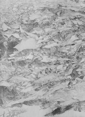 Kelly Wallace, 'No Horizons no. 4', 2012, Drawing, Collage or other Work on Paper, Graphite on paper, Seraphin Gallery