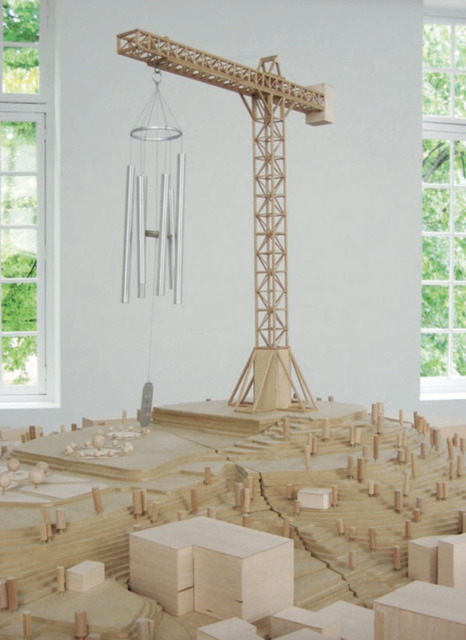 Mircea Cantor, 'Monument for the End of the World', 2006, Sculpture, Wood, MDF, cardboard, windchime, ventilator, Magazzino