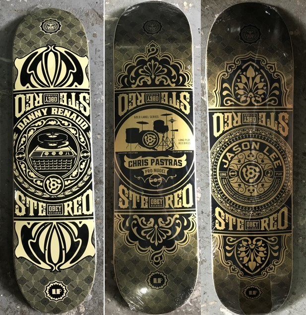 Shepard Fairey X Stereo Skateboard, 'Untitled (set of 3)', Digard Auction