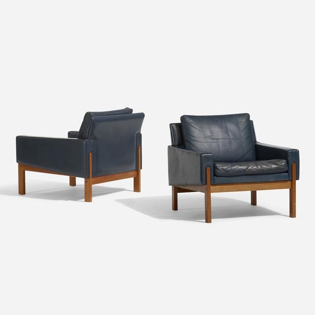 Scandinavian, 'Lounge chairs, pair', c. 1960, Wright