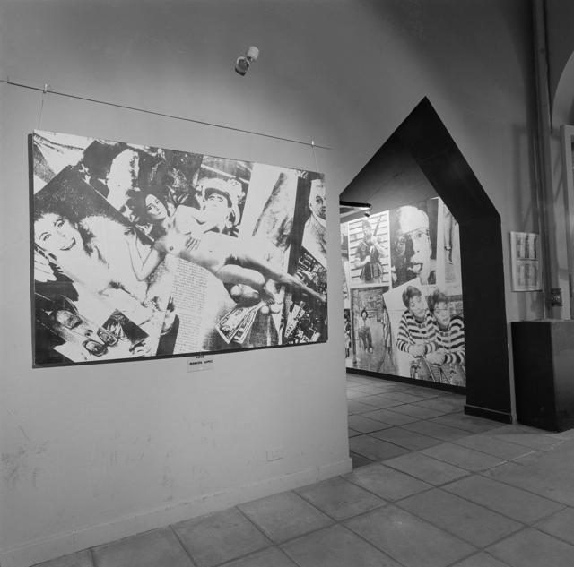 ", '""Imagen Pública - Altas Esferas"", Centro Cultural Recoleta, Buenos Aires, Argentina, 1993. Photographic record of the installation,' 1993, Rolf Art"