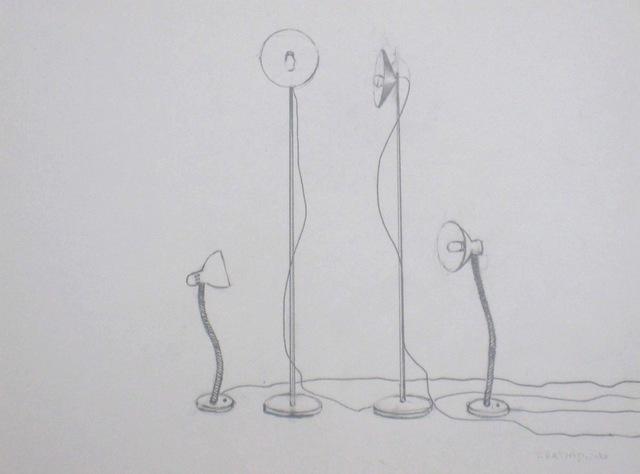 , 'Abat-jours et lampes de bureau réunis,' 2011, Eric Dupont