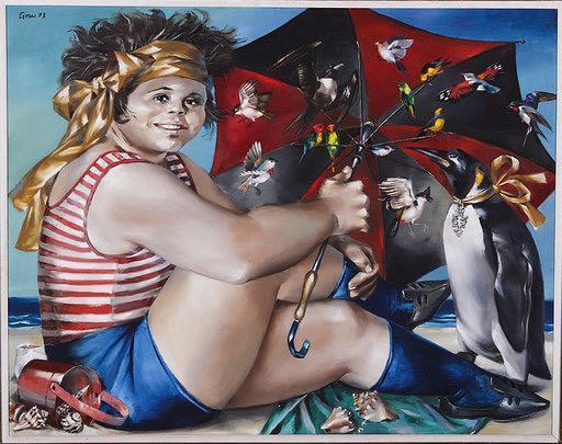 , 'Niña en la Playa ,' 1973, Galería Duque Arango