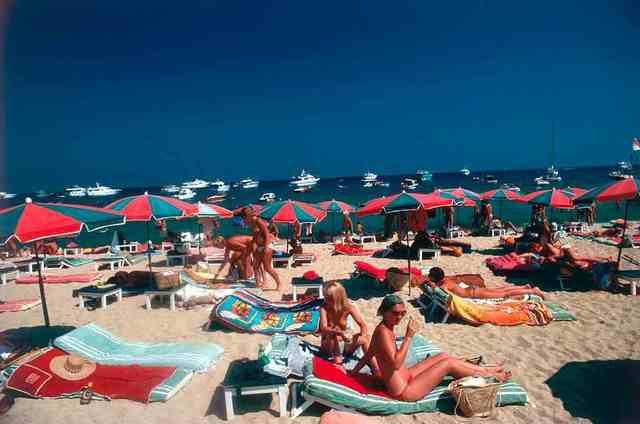 , 'Beach at St. Tropez,' 1977, IFAC Arts