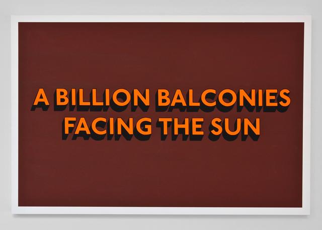 , 'BILLION BALCONIES (Original),' 2018, Hang-Up Gallery