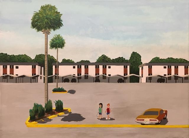 , 'Parking Lot, Palm Trees, Daytona Beach, FL,' 2019, Clyde Hogan Fine Art