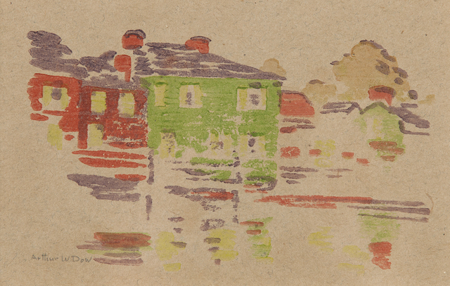 , 'Five Houses,' ca. 1895, Montclair Art Museum