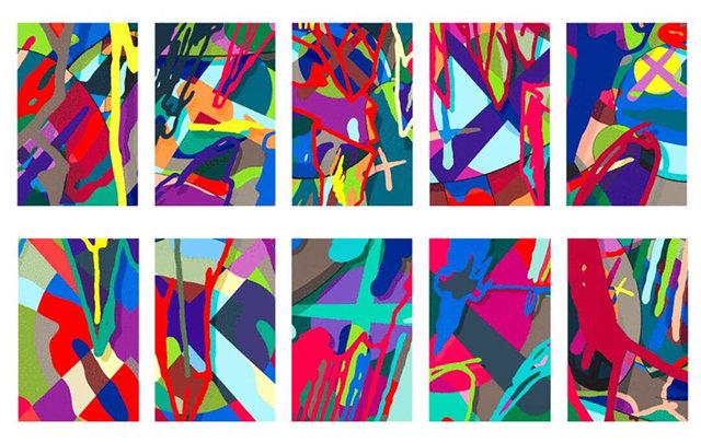 KAWS, 'Tension (Full Set of 10 Prints in Portfolio)', 2019, Print, Set of 10 screenprints on Saunders Waterford 425g HP hi-white paper, Carmichael Gallery