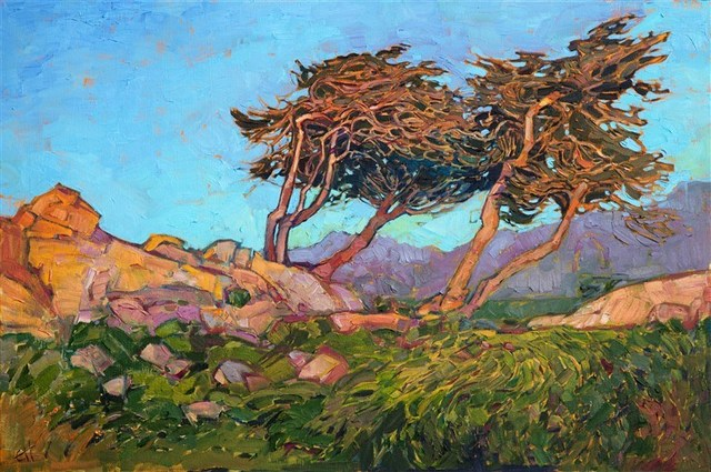 , 'Windy Cypress,' 2017, The Erin Hanson Gallery