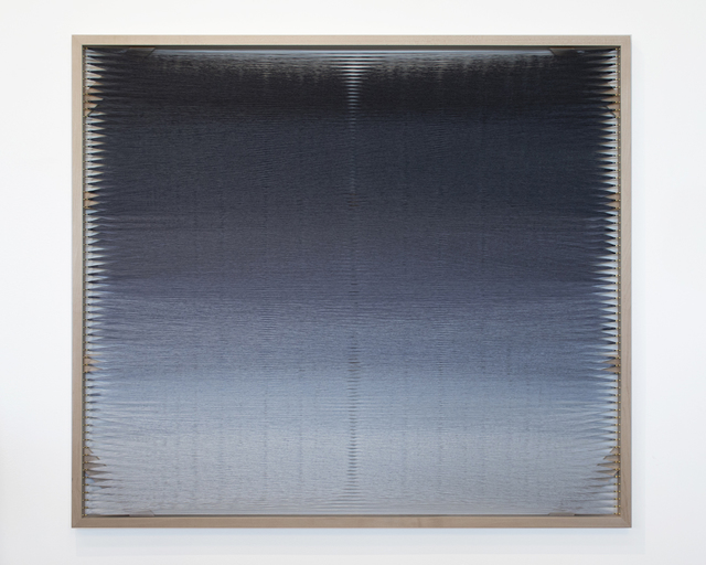 Rachel Mica Weiss, 'Woven Screen, Mist', 2020, Textile Arts, Polyester embroidery thread, brass hooks, maple, Carvalho Park