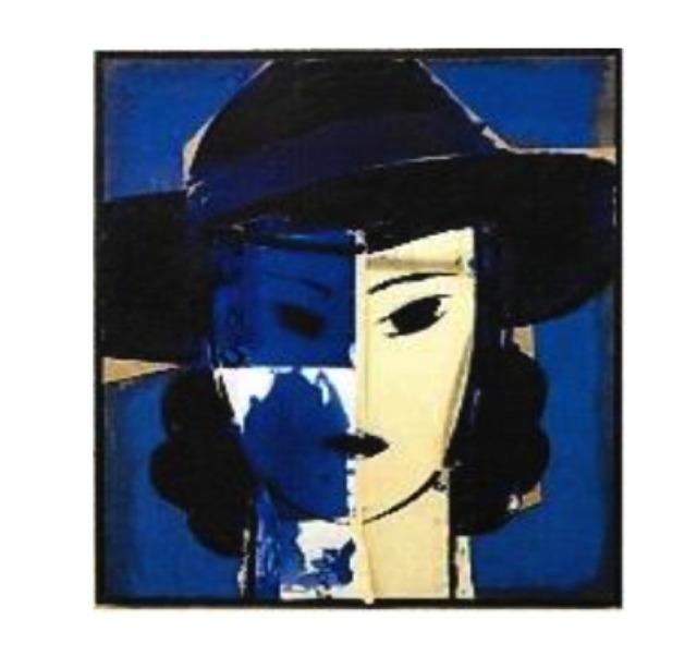 , 'Dama con sombrero azul,' 2017, Galeria Freites