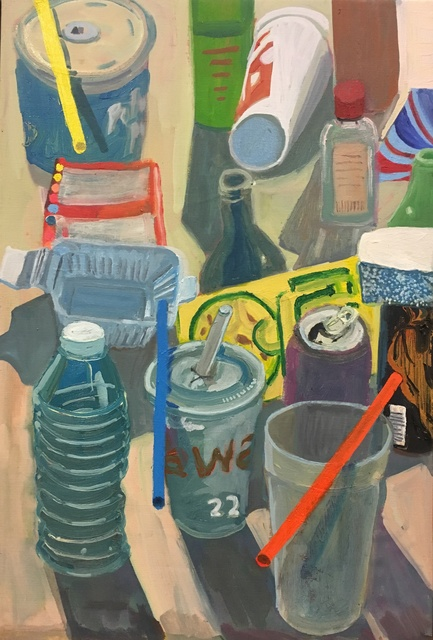 , 'Four Straws and Objects,' 2018, Mindy Solomon Gallery