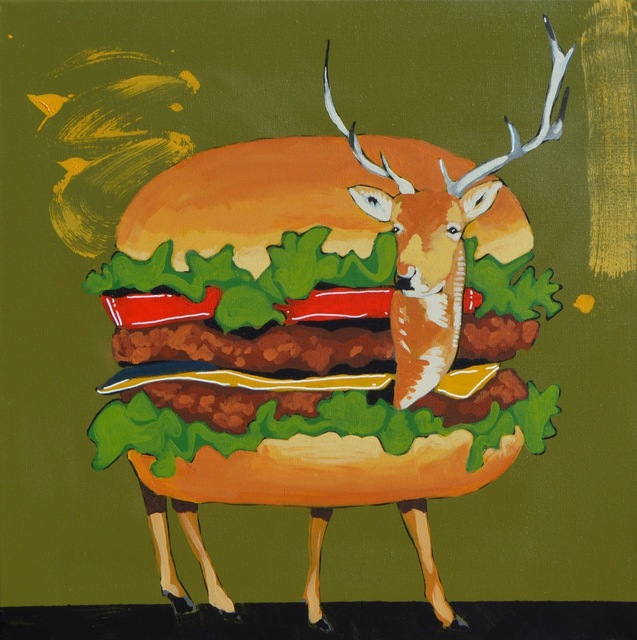 , 'FAST FOOD VENISON BURGER,' 2017, Tansey Contemporary