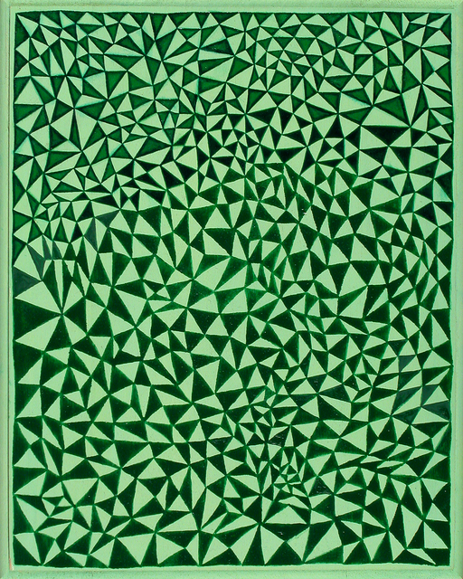 , 'Green Triangles,' 2011, Susan Eley Fine Art