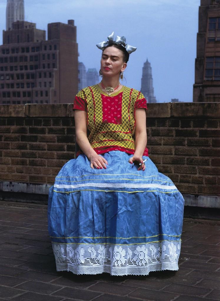 Nickolas Muray, 'Frida Kahlo (Sitting on Roof Holding Cigarette),' 1946, Bentley Gallery