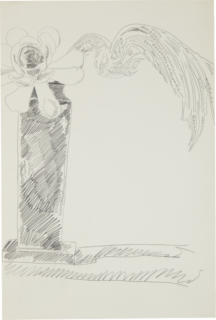 Andy Warhol, 'Flowers (Black and White)', 1974, Drawing, Collage or other Work on Paper, Graphite on ivory wove paper, Phillips