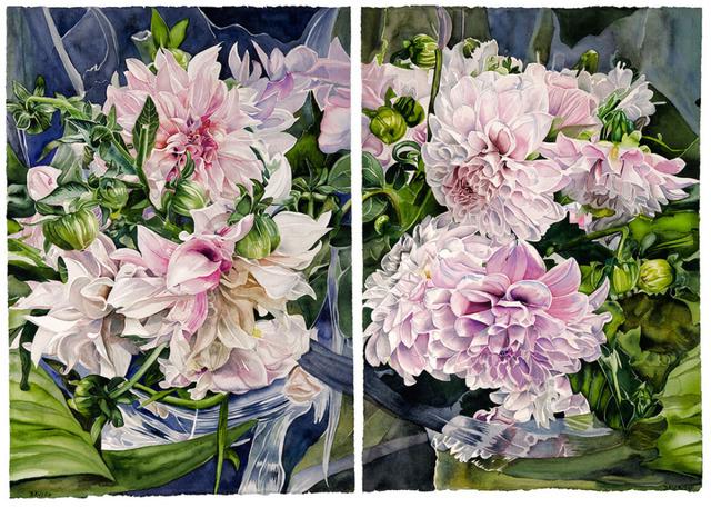 , 'Pink Dahlias,' 2018, Wally Workman Gallery