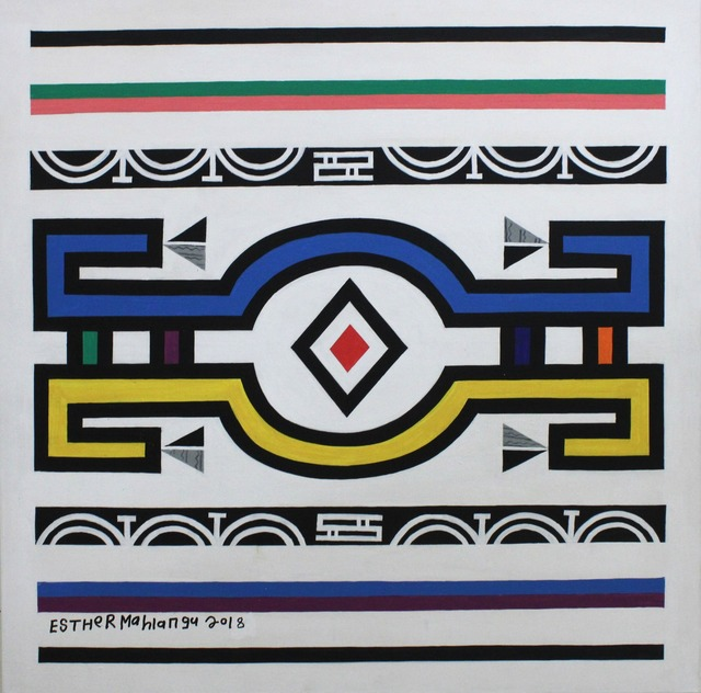 Esther Mahlangu, 'Ndebele Abstract - C000890', 2018, The Melrose Gallery