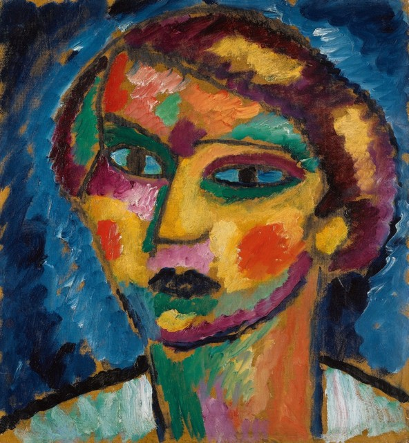 , 'Head of a Woman,' ca. 1913, Galerie Thomas