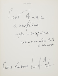 [SIGNED PHOTOBOOKS] Group of three signed or inscribed volumes
