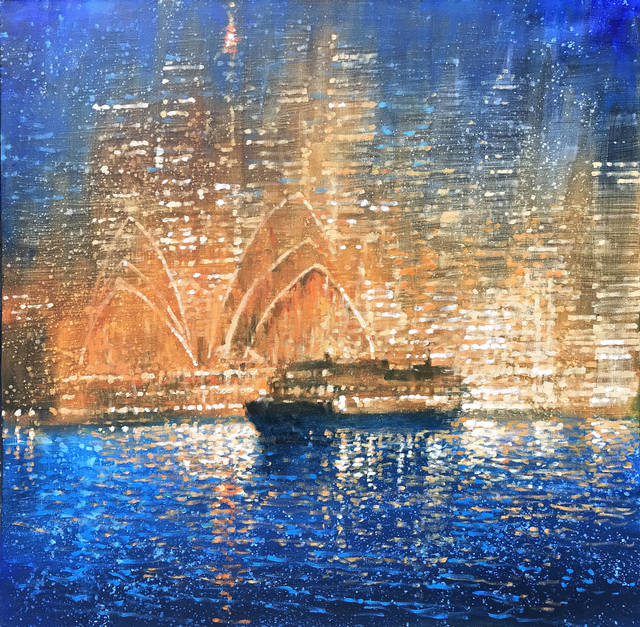 , 'Shimmering Harbour Sydney,' 2019, Wentworth Galleries