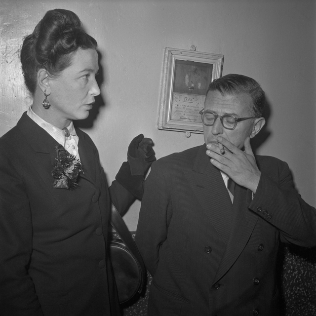 , 'Jean Paul Sartre and Simone de Beauvoir, Paris, 1951,' 1951, ElliottHalls