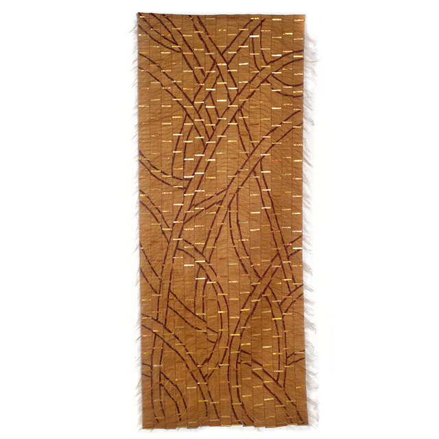 Adela Akers, 'Landscape Transformed', 2011, Textile Arts, Linen, horsehair, paint & metal foil, browngrotta arts