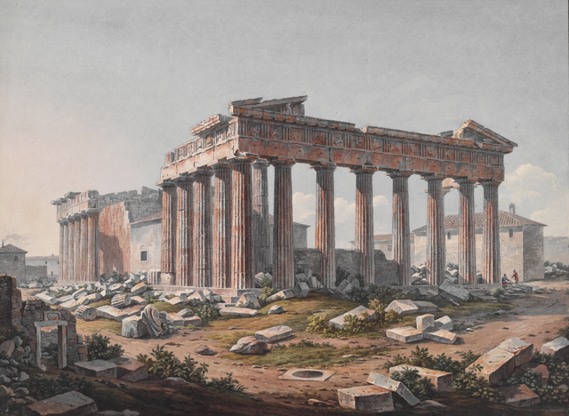 , 'Parthenon from the Southeast,' 1805, Legion of Honor