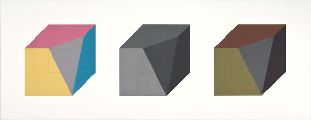 , 'Forms Derived from A Cube in Color (Simple & Superimposed) & Black/Grey (Plate #02),' 1984, Pace Prints
