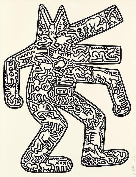 Keith Haring, 'Dog', 1986, Rhodes