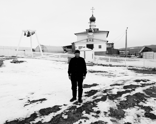 , 'Leaving the city behind (Evgeniy, pastor, Olkhon Island),' 2013, Pushkin House
