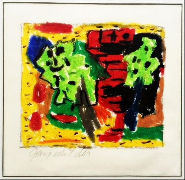 , 'Untitled Abstract Expressionist Painting (A protege of Hans Hofmann, Milder also studied Jewish mysticism and Kaballah),' ca. 1987, Alpha 137 Gallery
