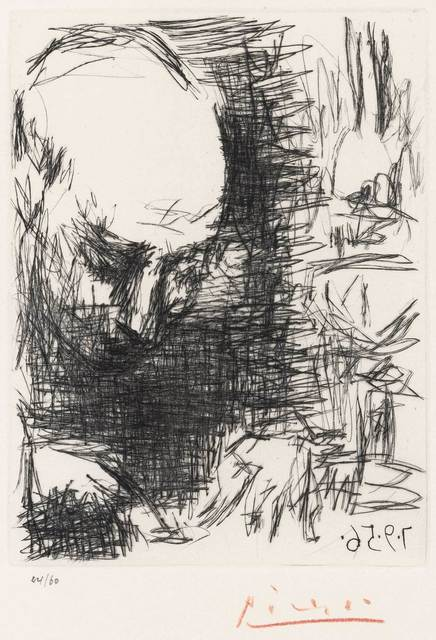 Pablo Picasso, 'Max Jacob Writing (B. 803; Cramer Books 78)', 1956, Print, Drypoint on Rives BFK paper, Doyle