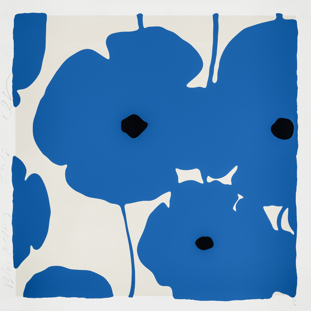 Donald Sultan, 'Blue Poppies', 2018, Maune Contemporary
