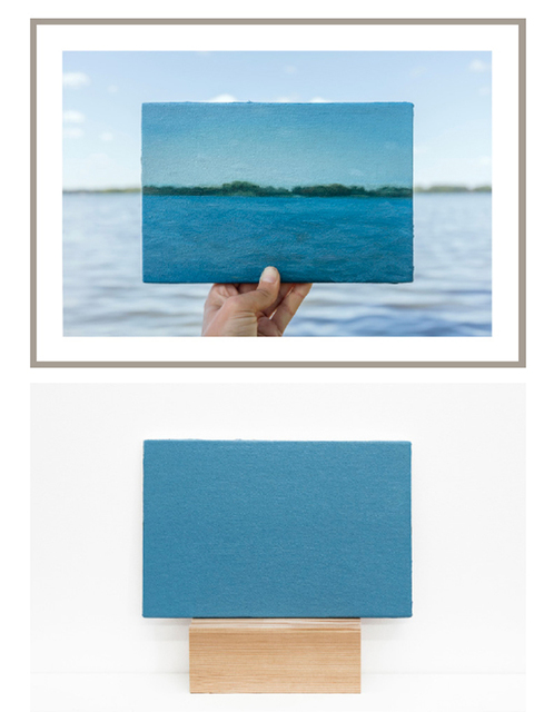 , 'Lake Waubesa, 29/06/2017  -  one photograph and one painting of a series of 5 photographs and 5 paintings,' 2017, Maus Contemporary