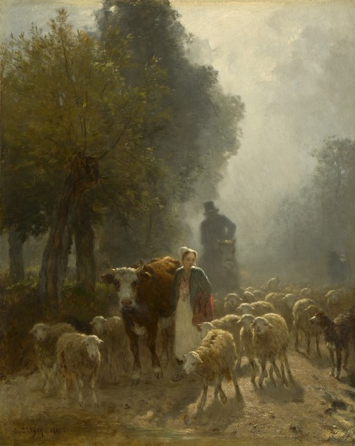Constant Troyon, 'Going to Market on a Misty Morning', 1851, Clark Art Institute