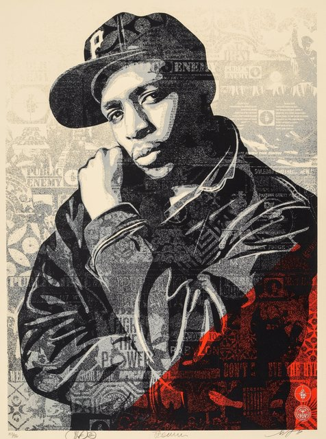 Shepard Fairey, 'Chuck D Black Steel (Red)', 2018, Heritage Auctions