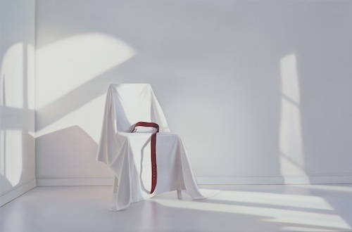 , 'Chair with red belt,' 2017, GALLERIA STEFANO FORNI