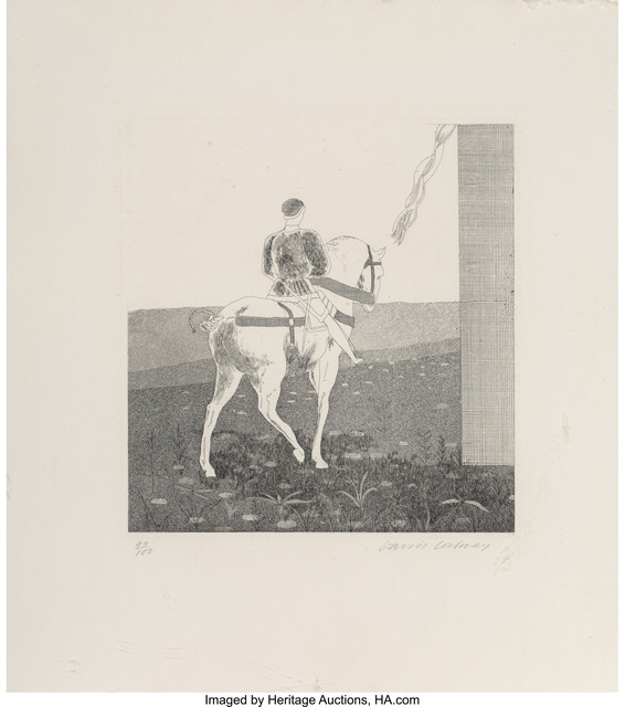 David Hockney, 'Rapunzel, Rapunzel, Let hair down, from Illustrations for Six Fairy Tales from the Brothers Grimm', 1969, Heritage Auctions