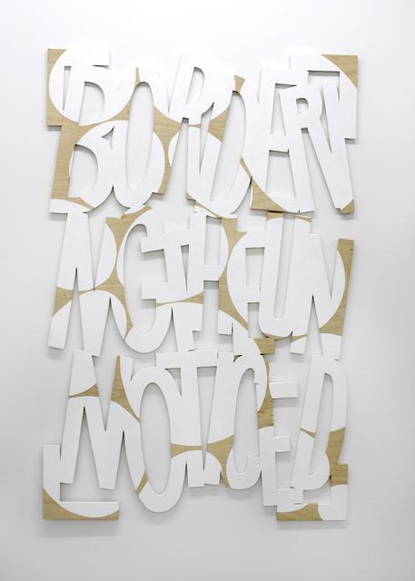, 'Words 58 (Dazzle Dialectics 5),' 2016, Galerie Bart
