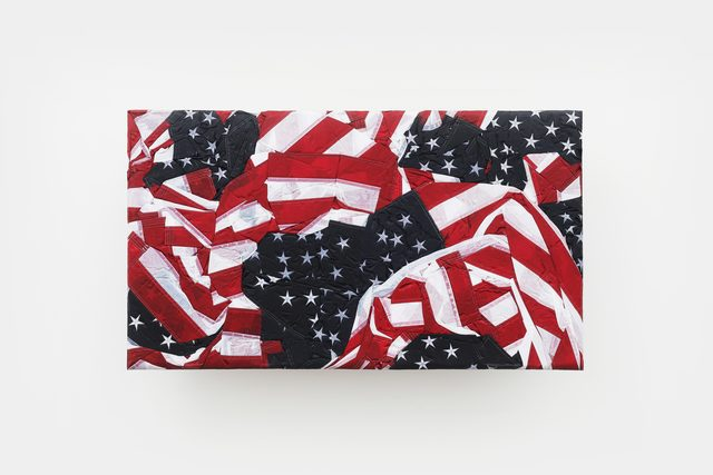 Josh Kline, 'Reality Television 15', 2020, Sculpture, Nylon flags, polyurethane, epoxy, microfiber, mounting hardware, Various Small Fires