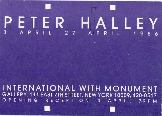 , 'International With Monument, Peter Halley, Card,' 1986, James Fuentes