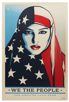 Shepard Fairey, We The People - Are Greater Than Fear