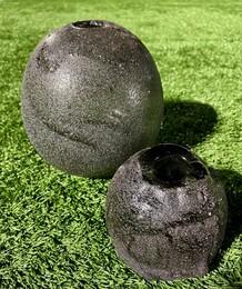 Black Volcanic Sand Moon Jars