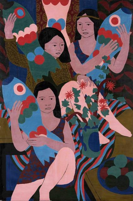 , 'Three Girls and Tissue Paper Fish,' 1970, Tatha Gallery