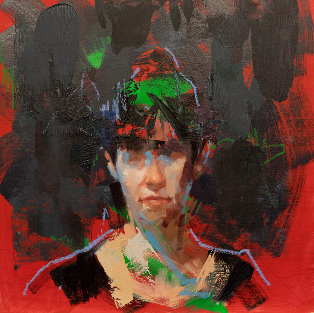 John Wentz, 'The blinding light of day holds sway', 2018, Painting, Oil on wood, NextStreet Gallery