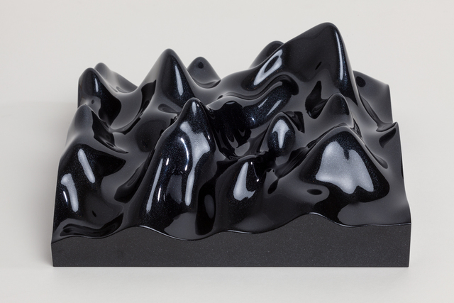 , 'Unknown Pleasure, Irodin 163, shimmer pearl on black background,' 2015, Paul Stolper Gallery