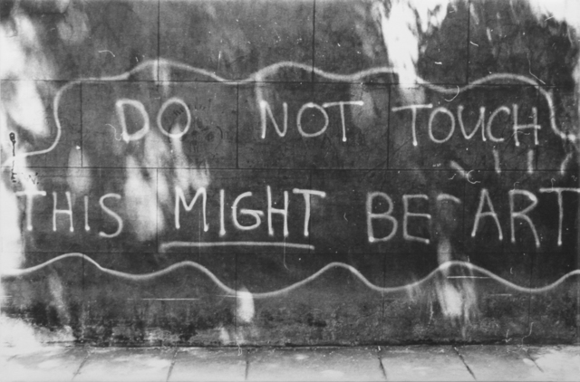, 'Do not touch  this might be art,' 2013, Luis Adelantado